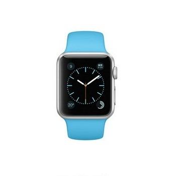 【38mm】Apple Watch Sport /銀色鋁金屬/淡藍色運動錶帶 MLCG2TA/A()