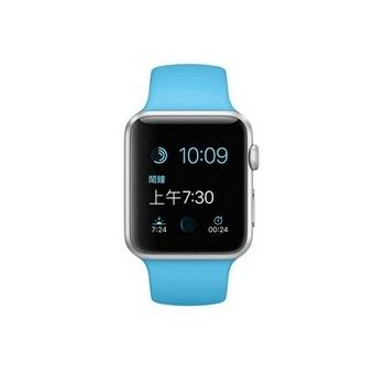 【42mm】Apple Watch Sport 淡藍色運動 / 銀色鋁金屬 MLC52TA/A