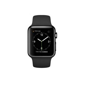 【38mm】Apple Watch 黑色運動 / 太空黑不鏽鋼 MLCK2TA/A