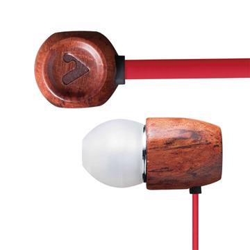 V-smart Nature Wood耳塞式耳機-紅(O-EP106-NW-Ri)