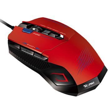 T.C.STAR電競有線鼠TCN293RD-紅(TCN293RD)價格