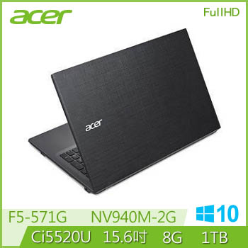 ACER F5-571G Ci5 NV940 獨顯 FHD 筆電(F5-571G-50XS(WIN10))