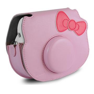 CAIUL mini-Hello Kitty 皮質相機包(粉)