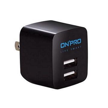 ONPRO USB雙埠電源供應器-黑(UC-2P01-B)