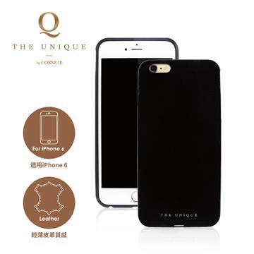 【iPhone 6】CONNETE 真皮背板鋁合金框-黑(CMCIP6-BK)