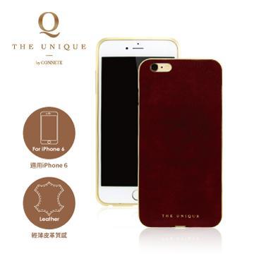 【iPhone 6】CONNETE 真皮背板鋁合金框-紅(CMCIP6-RE)