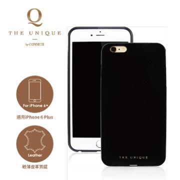 【iPhone 6 Plus】CONNETE 真皮背板鋁合金框-黑(CMCIP6P-BK)