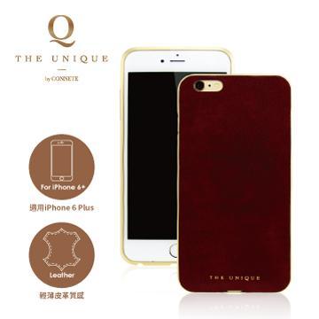 【iPhone 6 Plus】CONNETE 真皮背板鋁合金框-紅(CMCIP6P-RE)