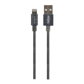 【1.2M】INTOPIC MFI認證8PIN USB傳輸線-灰(CB-IUA-01-GR)