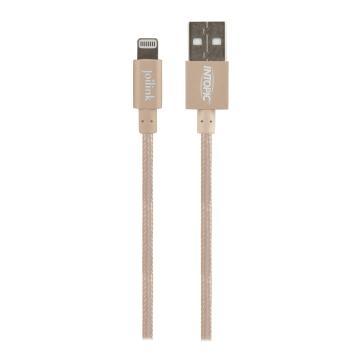 【1.2M】INTOPIC MFI認證8PIN USB傳輸線-金(CB-IUA-01-GD)