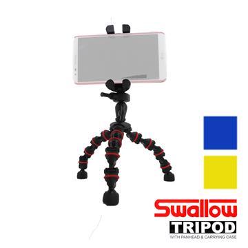 Swallow 魔術腳架組-含手機夾(藍色)