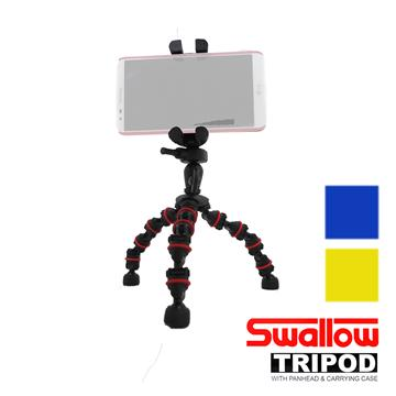 Swallow 魔術腳架組-含手機夾(黃色)