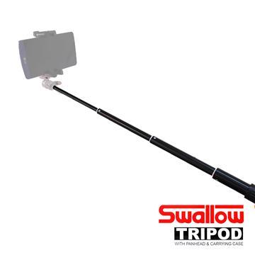 Swallow 自拍棒-含手机夹 黑色(相机可用)