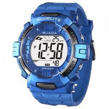 JAGA 捷卡 M979B-E 粗獷系列電子錶-藍(M979B-E 藍)