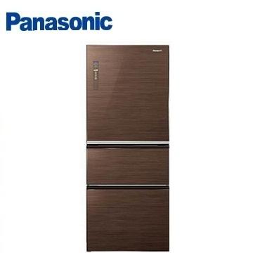 Panasonic 500公升ECONAVI三門玻璃變頻冰箱(NR-C508NHG-T(翡翠棕))