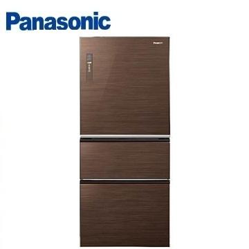 Panasonic 610公升ECONAVI三門玻璃變頻冰箱(NR-C618NHG-T(翡翠棕))