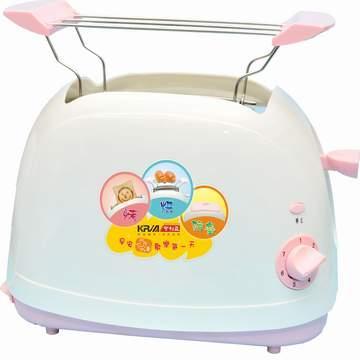 【KRIA可利亞】烘烤二用笑臉麵包機(粉)(KR-8001)