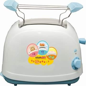 【KRIA可利亞】烘烤二用笑臉麵包機(藍)(KR-8002)