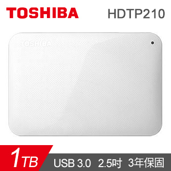 【1TB】TOSHIBA 2.5吋 行動硬碟(白)(HDTP210AW3AA)