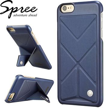 【iPhone 6/6S Plus 】Spree 可站立背蓋-藍(SP-BC101-230)