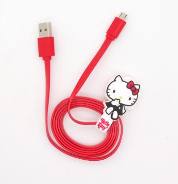 HELLO KITTY數位傳輸充電線III-紅