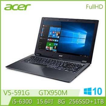 【混碟款】ACER V5-591G Ci5 GTX950 輕薄電競獨顯筆電(V5-591G-586G(競))