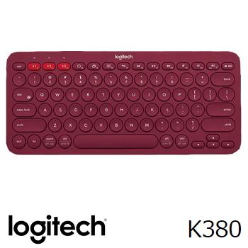 羅技K380跨平台藍牙鍵盤-紅(920-007656)