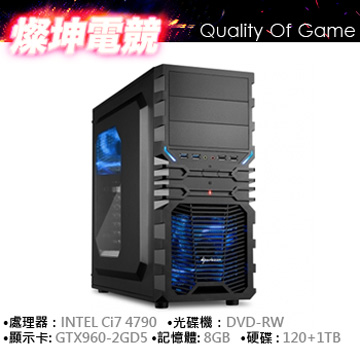 INTEL i7 8G 128+1TB GTX960 電競獨顯()
