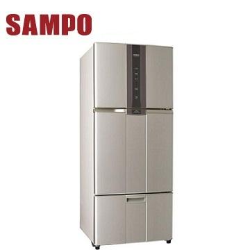 聲寶 530公升1級三門變頻冰箱(SR-N53DV(R6))