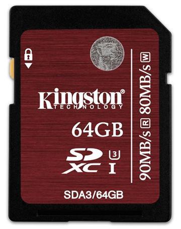 【64G】金士頓SDA3 U3 記憶卡(SDA3/64GB)