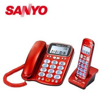 台灣三洋 2.4GHz數位無線話筒增音親子機(DCT-8916)