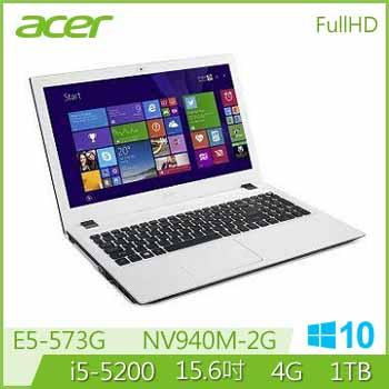 ACER E5-573G Ci5 NV940 獨顯筆電(E5-573G-52NR(WIN10)白)