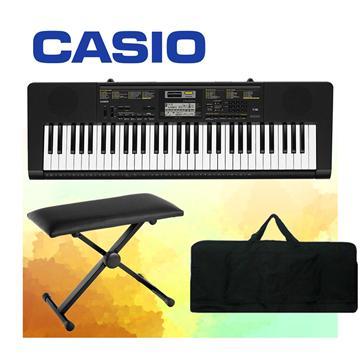 CASIO 61鍵電子琴+琴架/琴椅/琴袋