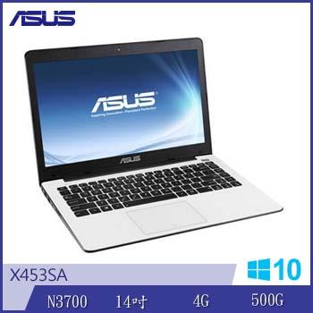 ASUS X453SA N3700 四核筆電(白)
