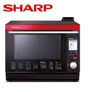 SHARP 31L 日本製HEALSIO水波爐(紅)