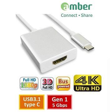 amber USB 3.1 type C 轉HDMI 4K轉接線