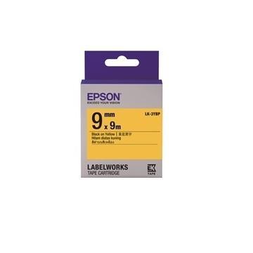 EPSON LK-3YBP粉彩系列黄底黑字标签带(C53S653404)