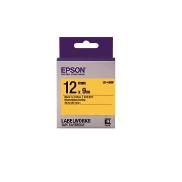 EPSON LK-4YBP粉彩系列黄底黑字标签带(C53S654404)