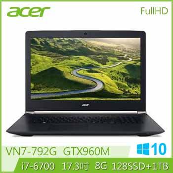 ACER VN7-792G Ci7 GTX960 電競獨顯筆電