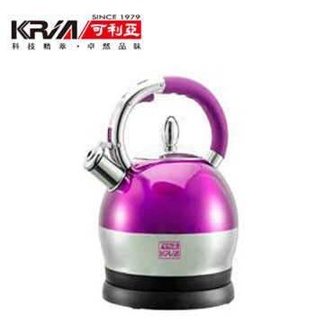 可利亞2.5L不鏽鋼防塵電煮壺-紫(KR-396P)