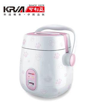 可利亞3人份可攜式蒸煮電子鍋-粉(KR-1102)