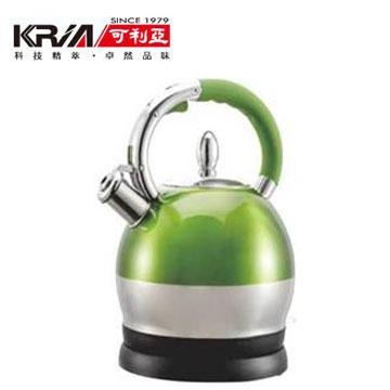 可利亞2.5L不鏽鋼防塵電煮壺-綠(KR-396G)