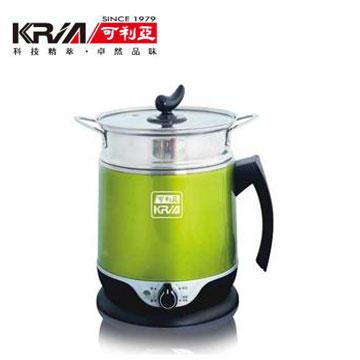可利亞1.8L雙層防燙蒸煮美食鍋-綠(KR-D039)