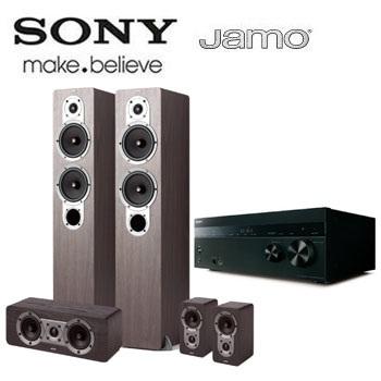【福利品】 SONY Hi-Res/4K擴大機+JAMO喇叭劇院組(DH750+S426HCS3)