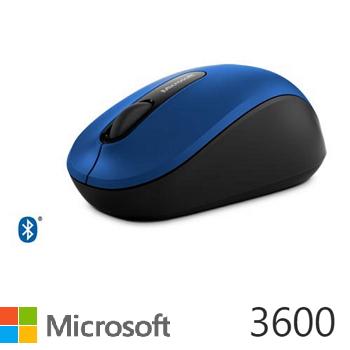 Microsoft藍牙行動滑鼠3600-藍(PN7-00030)