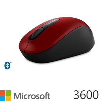 微软 Microsoft 蓝牙行动鼠标 3600 - 红(PN7-00020)