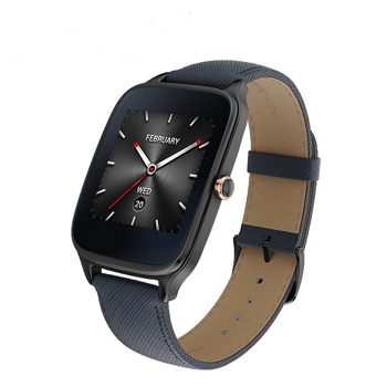 ASUS ZenWatch 2智慧錶-真皮伯爵藍