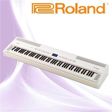Roland 數位鋼琴 贈雙叉鍵盤架-典雅白(FP-80-WH)