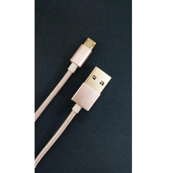 Q PNP USB2.0雙面插傳輸編織線-1m土豪金(QU2FTM1MDG)