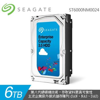 Seagate 3.5吋 6TB 企業級內接硬碟(ST6000NM0024-5Y/P)